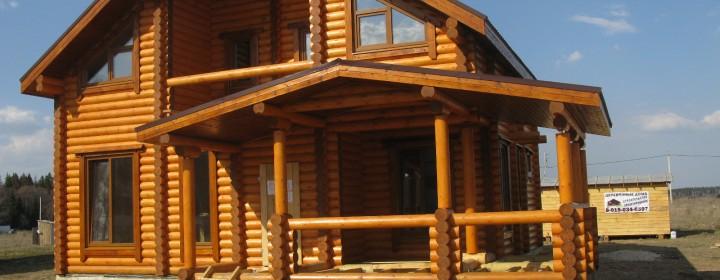 Простая сборка дачного дома из бруса своими руками