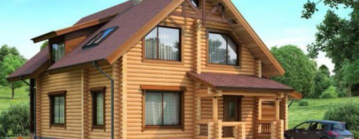 Строительство деревянного дома из ели
