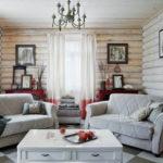 Современный интерьер дома из бруса: разнообразие стилей